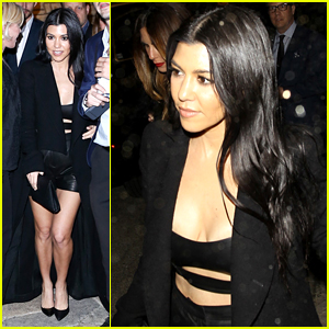 Kourtney Kardashian Grabs a Midnight Snack After WME Pre-Oscar Party