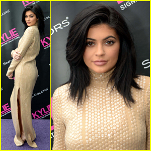 Kylie Jenner Celebrates New Line of Sinful Colors Nail Polishes