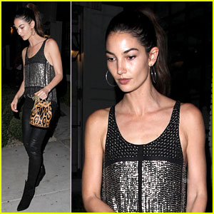 Lily Aldridge Competes with Michael Kors for 'Glamour Games'
