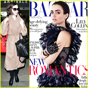 Lily Collins Tells 'Harper's Bazaar Australia' She Feels More European Than American