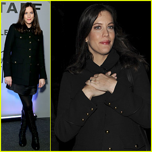 Liv Tyler's Baby Was Kicking Her From Stress Before Her Belstaff Presentation