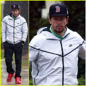 Mark Wahlberg Still Runs Errands Despite the Pouring Rain