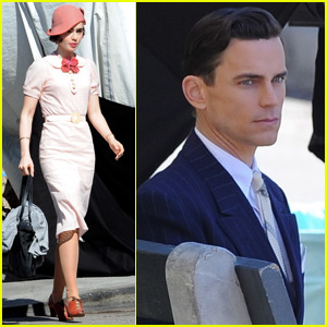 Matt Bomer & Lily Collins Start Filming 'The Last Tycoon'