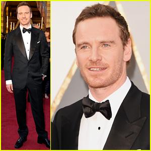 Michael Fassbender Walks Red Carpet Solo at Oscars 2016