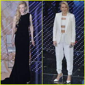 Nicole Kidman & Ellie Goulding Dress Up for Sanremo 2016