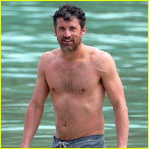 Shirtless Patrick Dempsey Continues His Beach Vacation ...