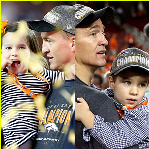 Peyton Mannings' Kids Join Him on Super Bowl 2016 Field!