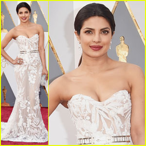 Priyanka Chopra is Lovely in White Lace for Oscars 2016