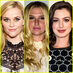 Reese Witherspoon & Anne Hathaway Voice Support for Kesha
