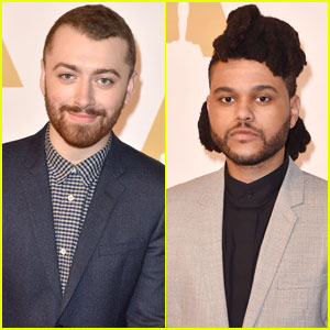 Best Original Song Nominees Sam Smith & The Weeknd Attend Academy Awards 2016 Luncheon