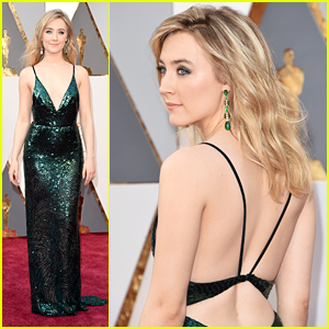 Saoirse Ronan Sparkles In Gorgeous Gown at Oscars 2016