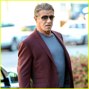 Sylvester Stallone Stops for Selfies With Fans