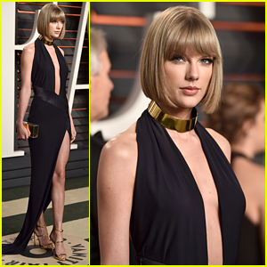 Taylor Swift Is Chic in Head to Toe Black at Vanity Fair Oscar Party 2016
