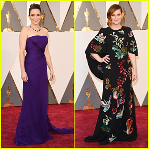 Tina Fey & Amy Poehler Hit the Oscars 2016 Red Carpet