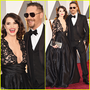 Tom Hardy Gets Support From Wife Charlotte Riley at Oscars 2016!