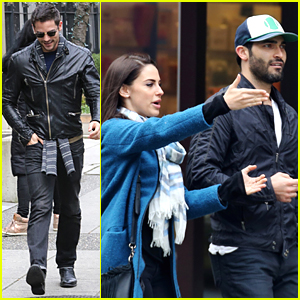 Tyler Hoechlin Hangs With Jessica Lowndes After Arriving in Vancouver For 'Fifty Shades Darker'