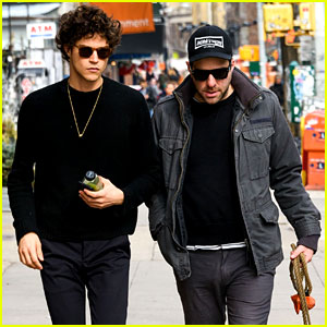 Zachary Quinto & Boyfriend Miles McMillan Take Their Dogs for a Walk