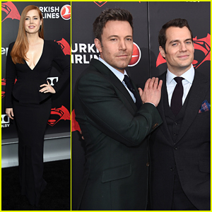 Amy Adams Joins Ben Affleck & Henry Cavill for 'Batman V Superman' Premiere