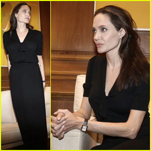 Angelina Jolie Spends Time With the Greek Prime Minister