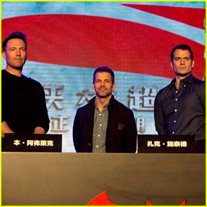 Ben Affleck & Henry Cavill Kick Off Press Tour in China!