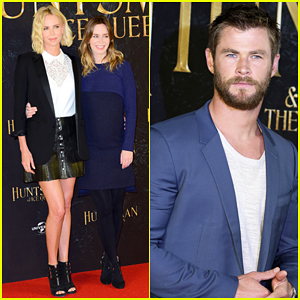 Charlize Theron, Chris Hemsworth & Emily Blunt Kick Off 'Huntsman' Promo In Germany!