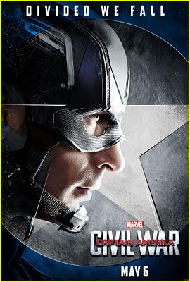 Chris Evans & 'Team Cap' Get 'Civil War' Character Posters!