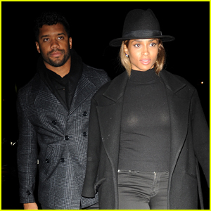Ciara & Russell Wilson Match in Black for Dinner Date