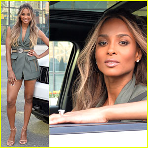 Ciara Puts Engagement Ring On Display at Jeep Event!