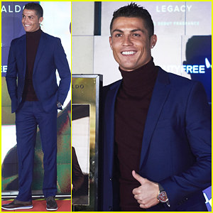 Cristiano Ronaldo Presents Debut Fragrance 'Legacy' In Madrid!