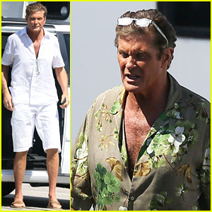 David Hasselhoff Spotted on 'Baywatch' Set for First Time!
