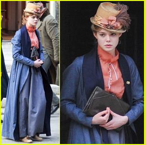 Elle Fanning Continues Filming 'A Storm In The Stars'