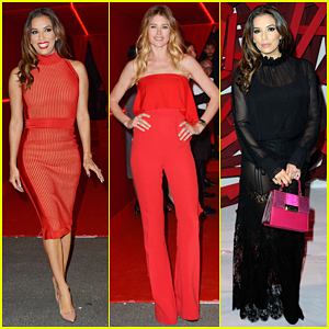 Eva Longoria & Doutzen Kroes Represent L'Orealistas At Red Obsession Party!