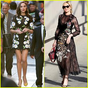 Gal Gadot & Kirsten Dunst Promote on 'Jimmy Kimmel Live' - Watch Now!