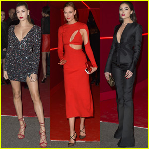 Hailey Baldwin & Karlie Kloss Support L'Oreal During Paris Fashion Week