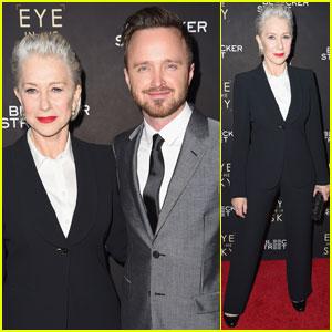Aaron Paul & Helen Mirren Premiere 'Eye in the Sky' in NYC