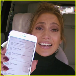 James Corden Texts Leonardo DiCaprio on Jennifer Lopez's Phone (Video)