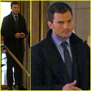 Jamie Dornan Films 'Fifty Shades' in the Middle of the Night