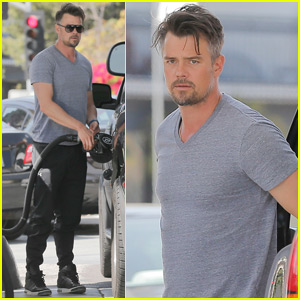 Josh Duhamel Adorably Races His Son Axl