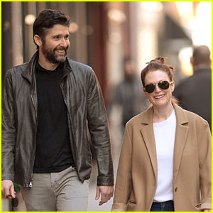 Julianne Moore Starts Her Morning with Hubby Bart Freundlich