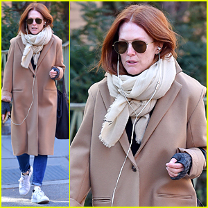 Julianne Moore Bundles Up in NYC After Chic Oscars Appearance
