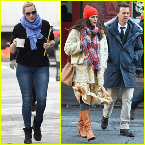Kate Winslet & Keira Knightley Continue Filming 'Collateral Beauty'