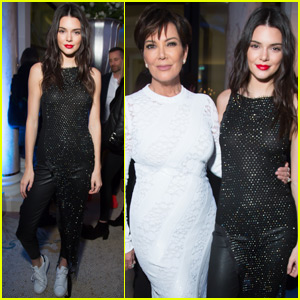 Kendall & Kris Jenner Have a Fun Night Out in Paris