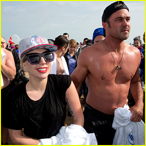 Lady Gaga & Shirtless Taylor Kinney Take Polar Plunge! (Photos)
