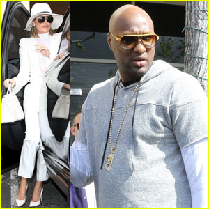 Lamar Odom Attends Easter Church Service With Kardashians