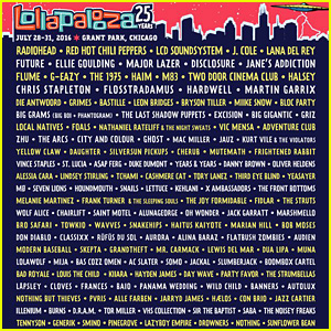 Lollapalooza 2016 - Full Lineup Revealed!