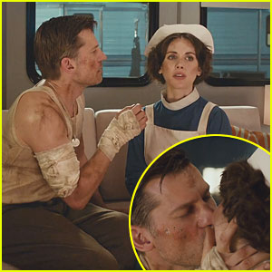 Nikolaj Coster-Waldau & Alison Brie Kiss in Apple TV Commercial