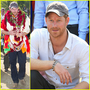 Prince Harry Celebrates Holi Festival In Nepal!