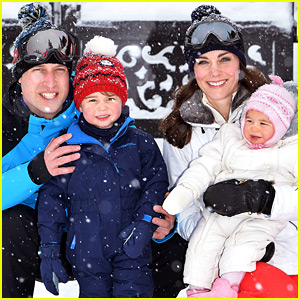 Prince William & Kate Middleton Share Family Photos from Ski Trip with George & Charlotte!