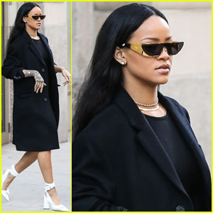 Rihanna Heads to Barclays Center Concert in Style