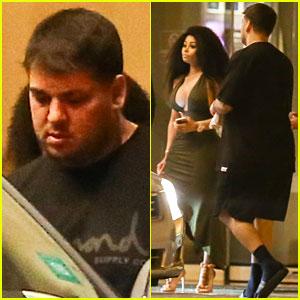 Rob Kardashian Steps Out in Jamaica with Blac Chyna